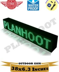 Green Outdoor LED Scrolling Programmable Sign. Water Proof