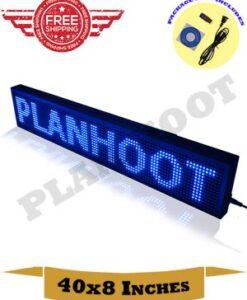 40X8 Blue LED Sign