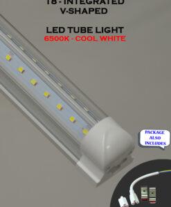 4 FT V Shaped 36W Integrated ETL Listed 5000K 6500K LED Tube Light