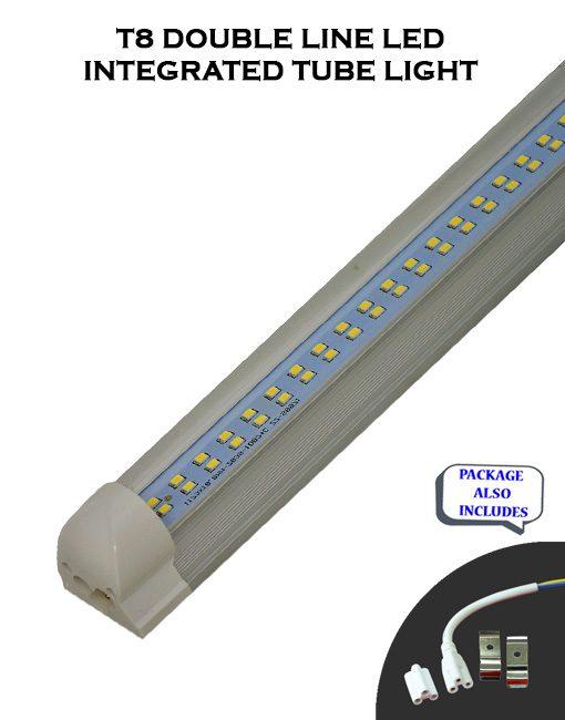 T8 Integrated 8FT 60W Double Line ET Listed LED Tube Light