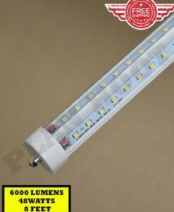 8 Feet V Shaped FA8, Single Pin, 6000 LUMENS LED Tube Light