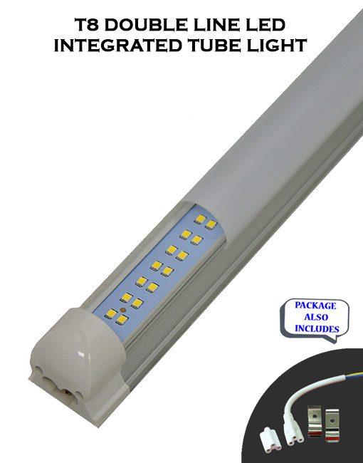 4 FT 36WT T8 Integrated Double Line 5000 Lumens LED Tube Lights