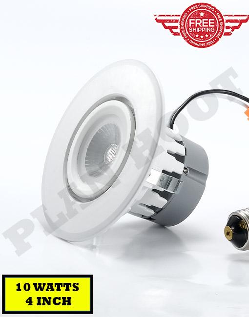 led gimbal down light 4 inch 10 watts 3000k 5000k title24 es etl