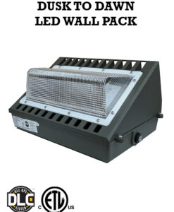 120W Meanwell driver Wall Pack Dusk to Dawn sensor photocell