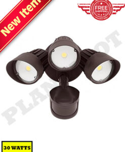 30W Motion Sensor Security Light Bronze