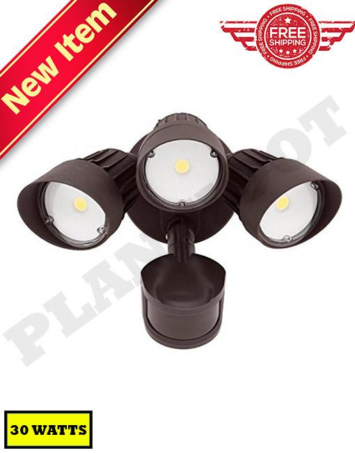 30W Motion Sensor Security Light Bronze