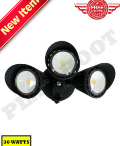 30W Photocell Dusk to Dawn Security Light Black
