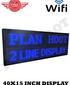 40X15 Blue LED Scrolling Sign