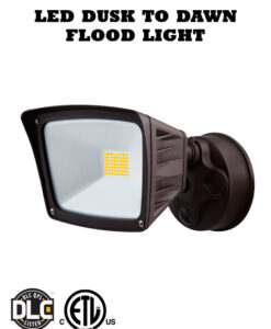 40 Watt LED Security Flood Light with Photocell Dusk to Dawn Sensor