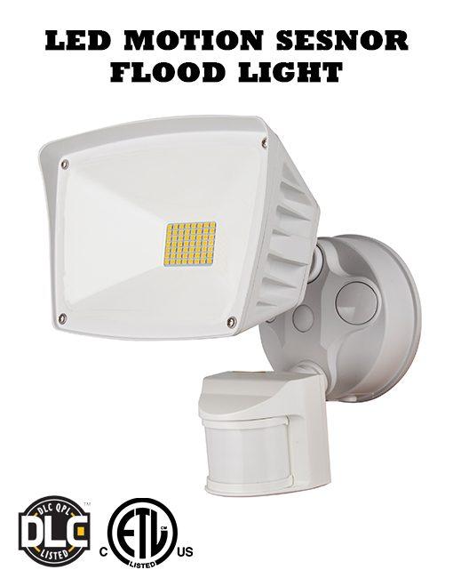40W White Motion Sensor LED Flood Light