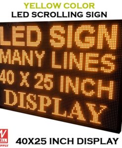 40X25 - Yellow Wifi LED Scrolling Sign