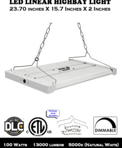 100W Linear LED Highbay for Warehouse
