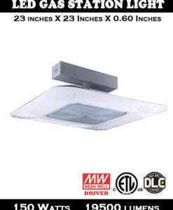 150W Tear Drop Design Canopy Gas Station Light - 2 Pack