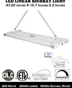4 FT 200W LED Linear Highbay for Warehouse Store