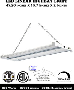 300W LED Linear Highbay Light for Warehouse