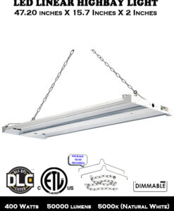 400W 50000 Lumens 5000K LED Linear Highbay Light for Warehouses